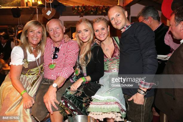Barbara Sturm with her father Horst Freytag his girlfriend Uta Raasch and her daughter Charly Sturm and her brother Tobias Freytag during the opening...