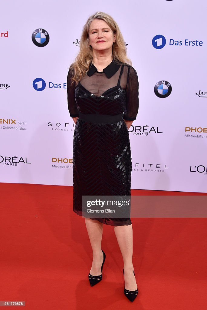 <a gi-track='captionPersonalityLinkClicked' href=/galleries/search?phrase=Barbara+Sukowa&family=editorial&specificpeople=2843188 ng-click='$event.stopPropagation()'>Barbara Sukowa</a> attends the Lola - German Film Award (Deutscher Filmpreis) on May 27, 2016 in Berlin, Germany.