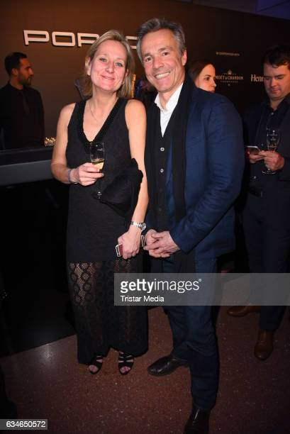 Barbara Thielen and Hannes Jaenicke attend the Blue Hour Reception hosted by ARD during the 67th Berlinale International Film Festival Berlin on...