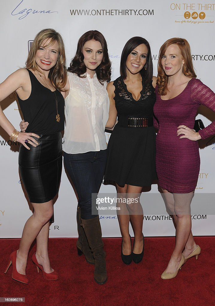Barbara Urich, Kaitlyn Black, Ashley Kerwin and Mallory Moye attend 'On The Thirty' Grand Opening at On The Thirty on February 28, 2013 in Sherman Oaks, California.