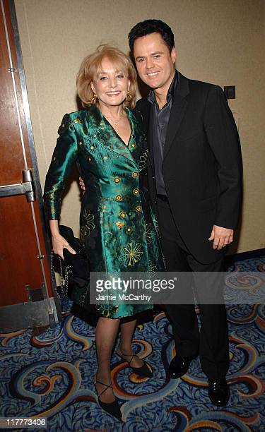Barbara Walters and Donny Osmond during Christopher Reeve Foundation Celebrates the Strength and Courage of Christopher Dana Reeve With a Magical...