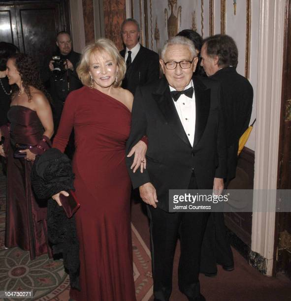 Barbara Walters and Dr Henry Kissinger during Merv Griffin Honored at the Museum of Television and Radio's Annual Gala at Waldorf Astoria Grand...