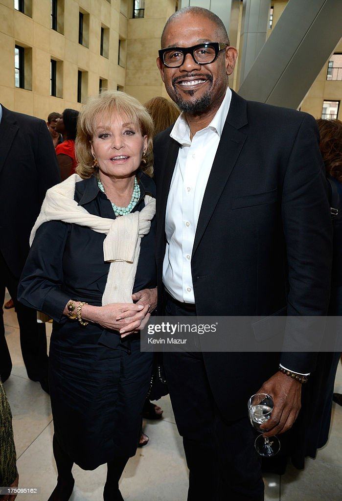 Barbara Walters and Forest Whitaker attend the O, The Oprah Magazine's special advance screening of 'Lee Daniels' The Butler' at The Hearst Tower on July 31, 2013 in New York City.