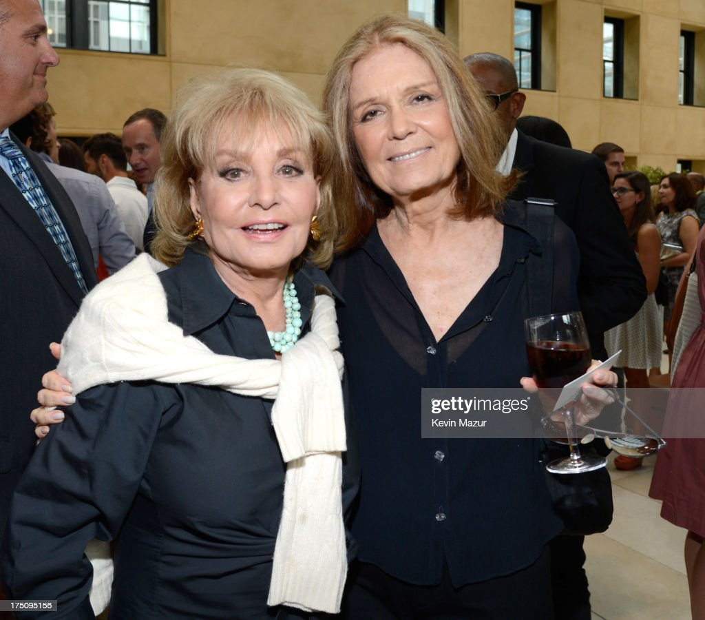 Barbara Walters and Gloria Steinem attend the O, The Oprah Magazine's special advance screening of 'Lee Daniels' The Butler' at The Hearst Tower on July 31, 2013 in New York City.