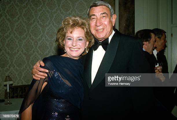 Barbara Walters and Howard Cosell pose for a picture at an ABC Network event March 23 1983 in New York City