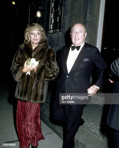 Barbara Walters and Jerry Zipkin during Private Party for Royal Family of Monaco at Home of Estee Lauder in New York City New York United States