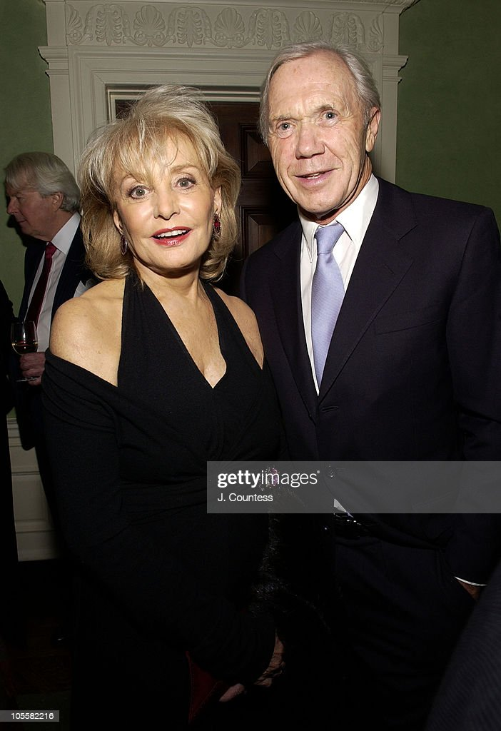 Barbara Walters and Peter Brown during Renee Fleming Book Release Party - 'The Inner Voice: The Making of a Singer' at The Georgian Suite in New York City, New York, United States.