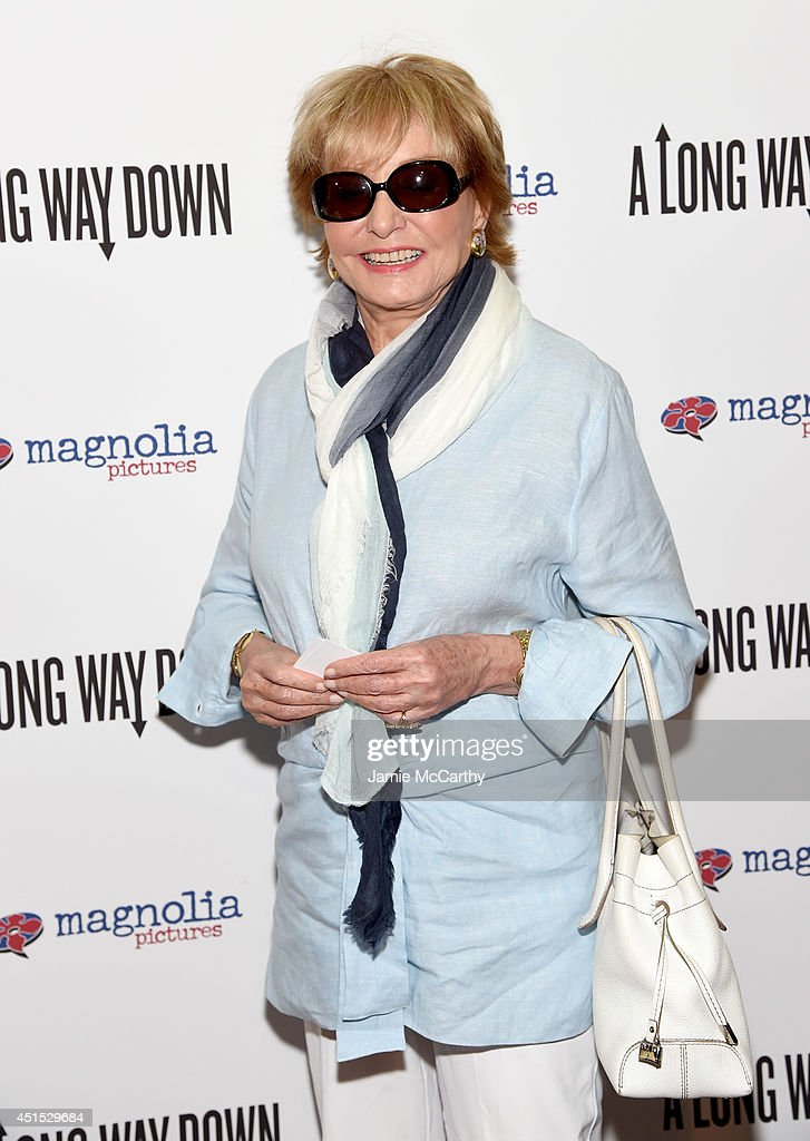 <a gi-track='captionPersonalityLinkClicked' href=/galleries/search?phrase=Barbara+Walters&family=editorial&specificpeople=201871 ng-click='$event.stopPropagation()'>Barbara Walters</a> attends 'A Long Way Down' New York premiere at City Cinemas 123 on June 30, 2014 in New York City.