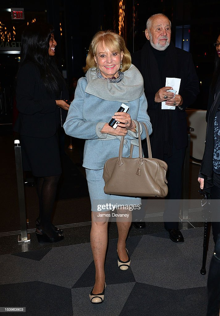 Barbara Walters attends Barbra Streisand's concert at Barclays Center on October 11 2012 in the Brooklyn borough of New York City