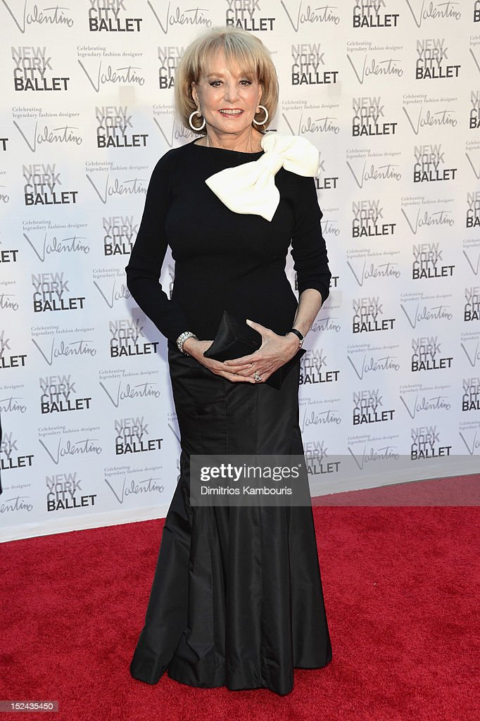 <a gi-track='captionPersonalityLinkClicked' href=/galleries/search?phrase=Barbara+Walters&family=editorial&specificpeople=201871 ng-click='$event.stopPropagation()'>Barbara Walters</a> attends the 2012 New York City Ballet Fall Gala at the David H. Koch Theater, Lincoln Center on September 20, 2012 in New York City.