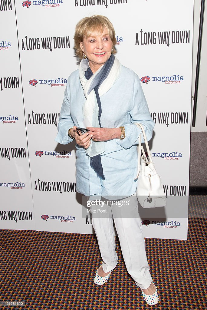 <a gi-track='captionPersonalityLinkClicked' href=/galleries/search?phrase=Barbara+Walters&family=editorial&specificpeople=201871 ng-click='$event.stopPropagation()'>Barbara Walters</a> attends the 'A Long Way Down' New York premiere at City Cinemas 123 on June 30, 2014 in New York City.