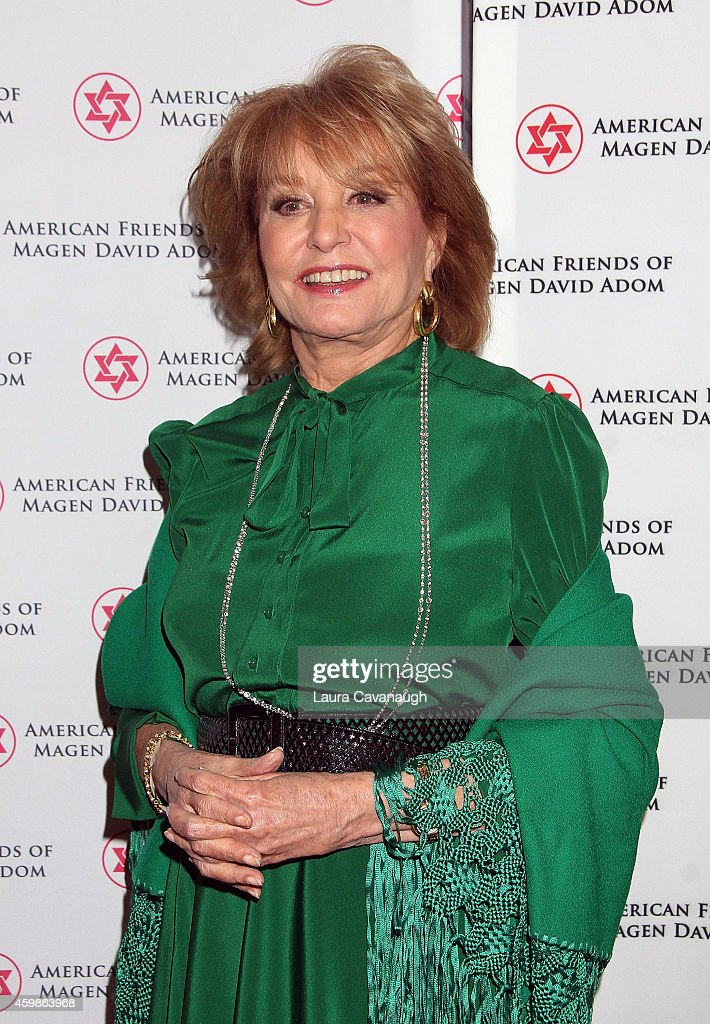 <a gi-track='captionPersonalityLinkClicked' href=/galleries/search?phrase=Barbara+Walters&family=editorial&specificpeople=201871 ng-click='$event.stopPropagation()'>Barbara Walters</a> attends the American Friends Of Magen David Adom Annual Benefit Dinner at The Lighthouse at Chelsea Piers on December 2, 2014 in New York City.