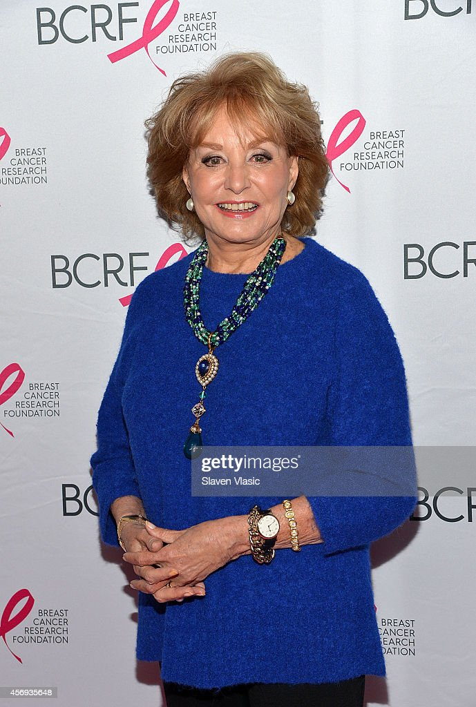 <a gi-track='captionPersonalityLinkClicked' href=/galleries/search?phrase=Barbara+Walters&family=editorial&specificpeople=201871 ng-click='$event.stopPropagation()'>Barbara Walters</a> attends The Breast Cancer Research Foundation's Symposium & Awards Luncheon at The Waldorf Astoria on October 9, 2014 in New York City.
