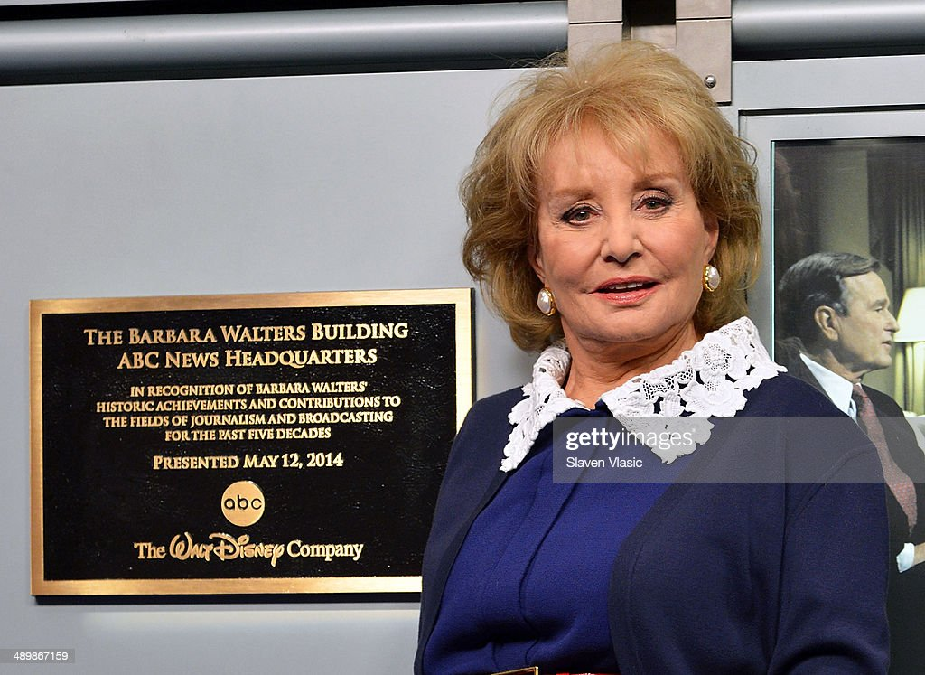 <a gi-track='captionPersonalityLinkClicked' href=/galleries/search?phrase=Barbara+Walters&family=editorial&specificpeople=201871 ng-click='$event.stopPropagation()'>Barbara Walters</a> attends the dedication ceremony as ABC News headquarters in New York is proclaimed 'The <a gi-track='captionPersonalityLinkClicked' href=/galleries/search?phrase=Barbara+Walters&family=editorial&specificpeople=201871 ng-click='$event.stopPropagation()'>Barbara Walters</a> Building' ABC News Headquarters Dedication Ceremony on May 12, 2014 in New York City.
