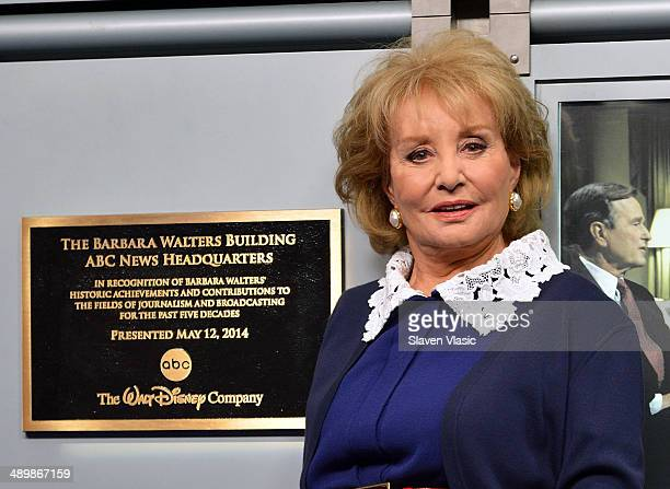 Barbara Walters attends the dedication ceremony as ABC News headquarters in New York is proclaimed 'The Barbara Walters Building' ABC News...