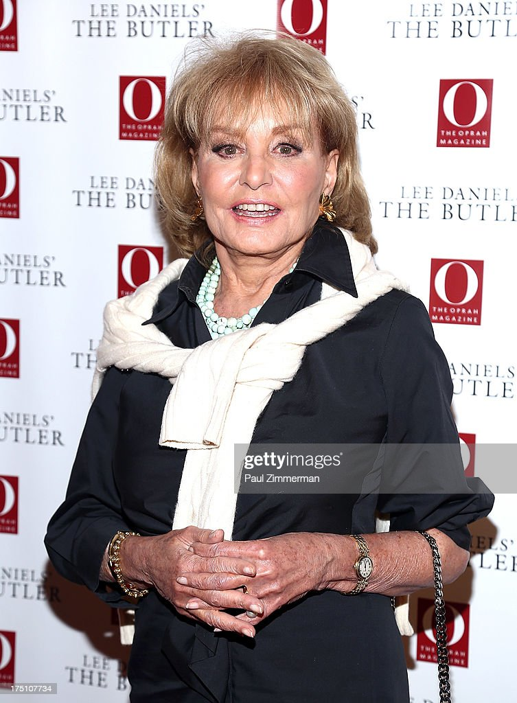 <a gi-track='captionPersonalityLinkClicked' href=/galleries/search?phrase=Barbara+Walters&family=editorial&specificpeople=201871 ng-click='$event.stopPropagation()'>Barbara Walters</a> attends the Lee Daniels' 'The Butler' Special Screening at Hearst Tower on July 31, 2013 in New York City.