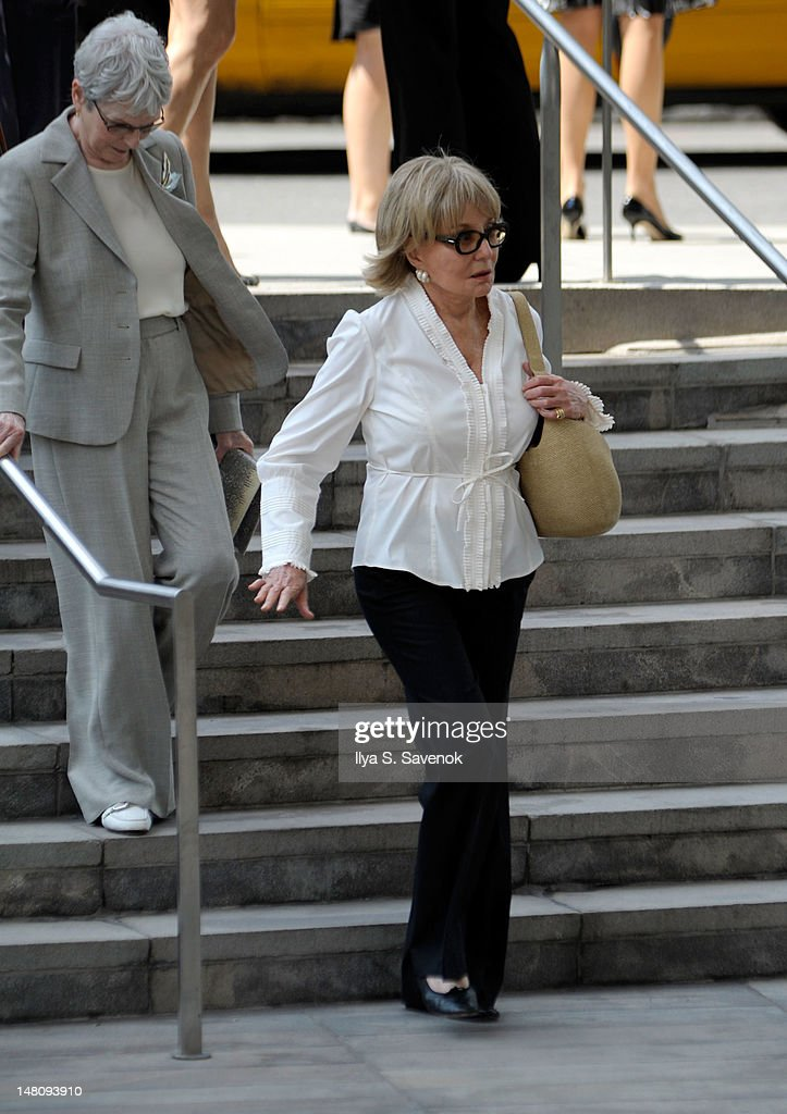 <a gi-track='captionPersonalityLinkClicked' href=/galleries/search?phrase=Barbara+Walters&family=editorial&specificpeople=201871 ng-click='$event.stopPropagation()'>Barbara Walters</a> attends the Nora Ephron Memorial Service on July 9, 2012 in New York City.