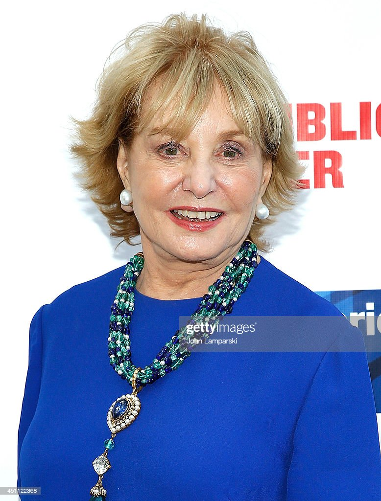 <a gi-track='captionPersonalityLinkClicked' href=/galleries/search?phrase=Barbara+Walters&family=editorial&specificpeople=201871 ng-click='$event.stopPropagation()'>Barbara Walters</a> attends the Public Theater's 2014 Gala celebrating 'One Thrilling Combination' on June 23, 2014 in New York, United States.