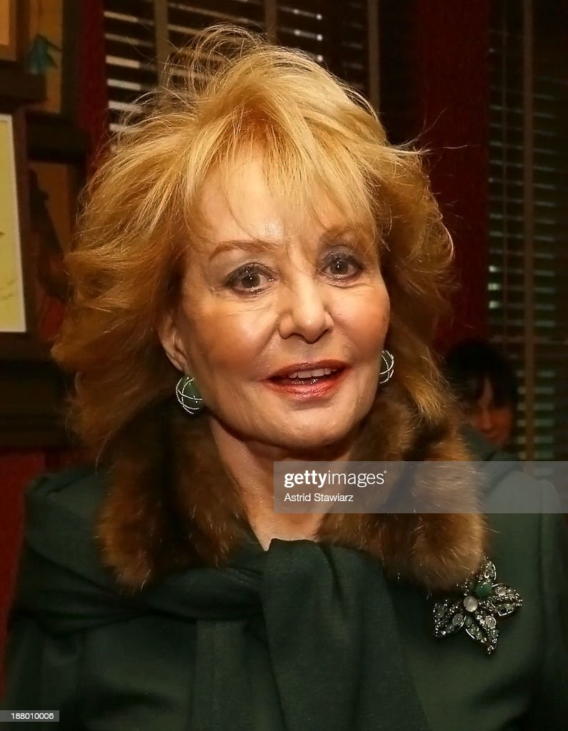 <a gi-track='captionPersonalityLinkClicked' href=/galleries/search?phrase=Barbara+Walters&family=editorial&specificpeople=201871 ng-click='$event.stopPropagation()'>Barbara Walters</a> attends the The Deadline Club's New York Journalism Hall of Fame 2013 Luncheon at Sardi's on November 14, 2013 in New York City.