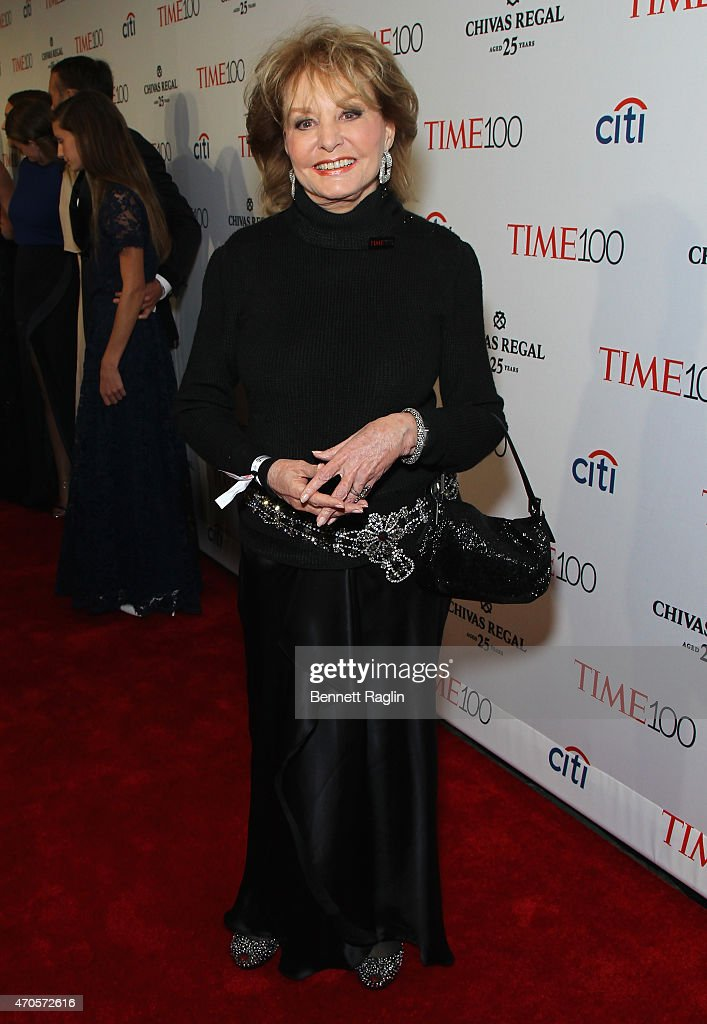 <a gi-track='captionPersonalityLinkClicked' href=/galleries/search?phrase=Barbara+Walters&family=editorial&specificpeople=201871 ng-click='$event.stopPropagation()'>Barbara Walters</a> attends the TIME 100 Gala, TIME's 100 Most Influential People In The World at Jazz at Lincoln Center on April 21, 2015 in New York City.