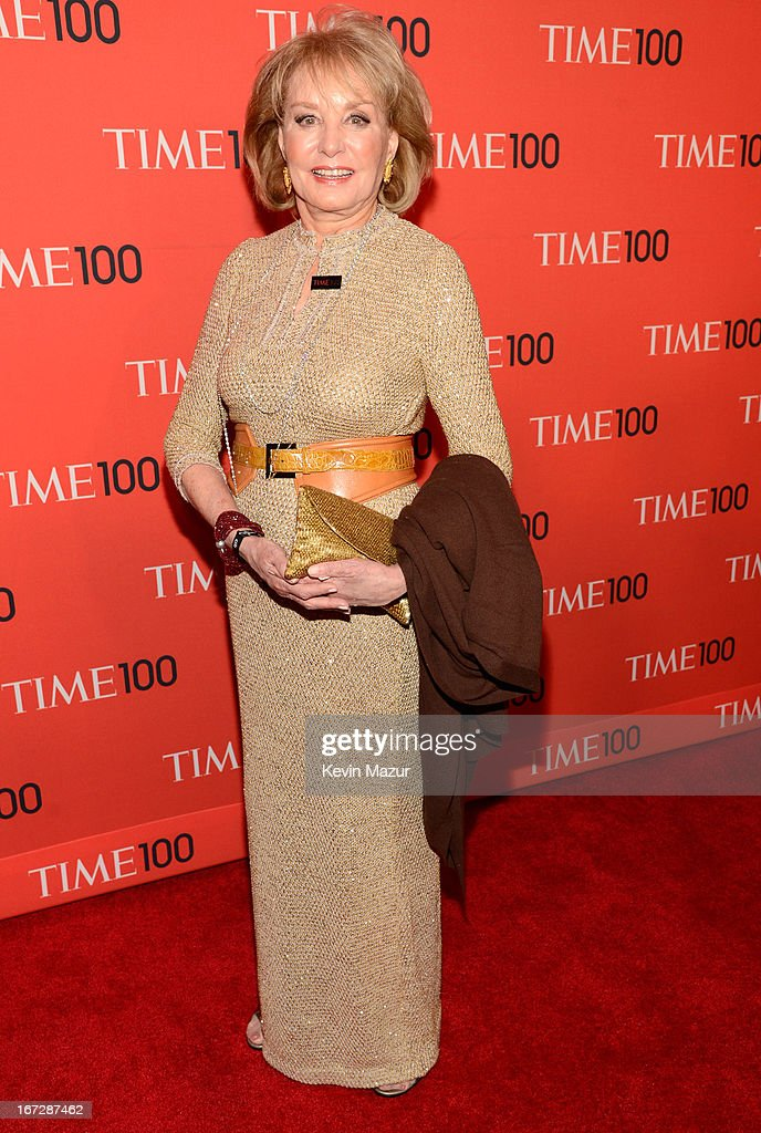 <a gi-track='captionPersonalityLinkClicked' href=/galleries/search?phrase=Barbara+Walters&family=editorial&specificpeople=201871 ng-click='$event.stopPropagation()'>Barbara Walters</a> attends TIME 100 Gala, TIME'S 100 Most Influential People In The World at Jazz at Lincoln Center on April 23, 2013 in New York City.