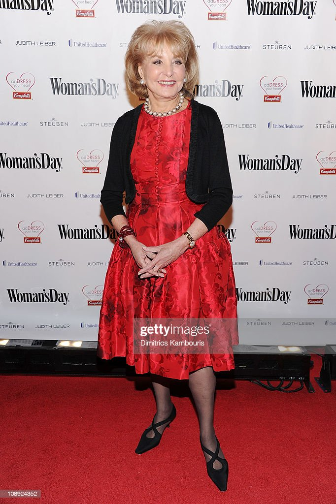 Barbara Walters attends Woman's Day Red Dress Awards Campbell's AdDress Your Heart at Jazz at Lincoln Center on February 8 2011 in New York City