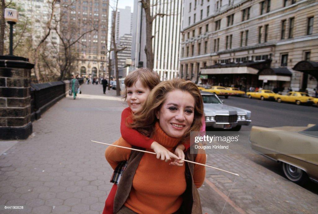 Barbara Walters Carrying Daughter