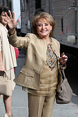 Barbara Walters departs 'Late Show with David Letterman' at Ed Sullivan Theater on May 20 2015 in New York City