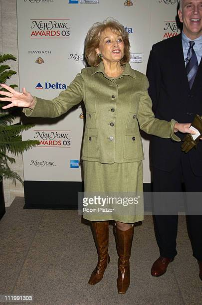 Barbara Walters during 2003 New York Magazine Awards at The Four Seasons Restaurant in New York City New York United States