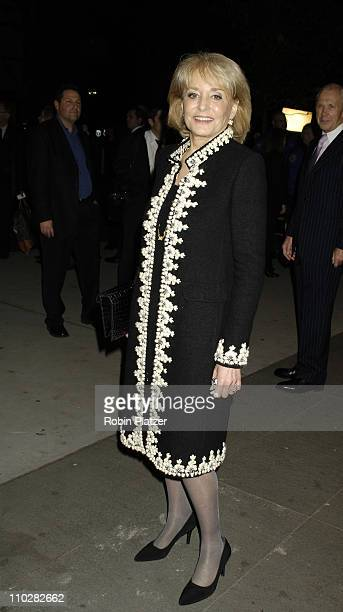 Barbara Walters during Cocktail Party for TRH The Prince of Wales and The Duchess of Cornwall at the Museum of Modern Art November 1 2005 at Museum...