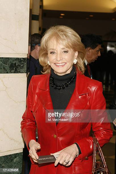 Barbara Walters during HBO's Premiere of 'All Aboard Rosie's Family Cruise' at HBO Theatre in New York New York United States