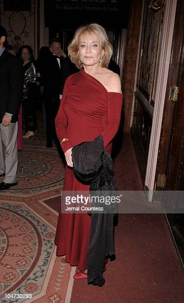 Barbara Walters during Merv Griffin Honored at the Museum of Television and Radio's Annual Gala at Waldorf Astoria Grand Ballrrrroom in New York City...