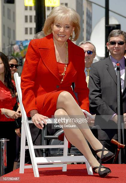 Barbara Walters during Television Icon Barbara Walters Honored With a Star on the Hollywood Walk of Fame at Hollywood Walk of Fame in Hollywood...