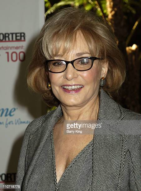 Barbara Walters during The Hollywood Reporter's Women in Entertainment Power 100 Breakfast Sponsored by LIfetime Arrivals at Beverly Hills Hotel in...