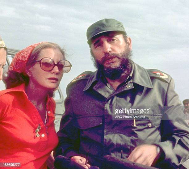 Barbara Walters interviewed Cuban president Fidel Castro as they crossed the Bay of Pigs on an ABC News Special airing June 9 1977 on the ABC...