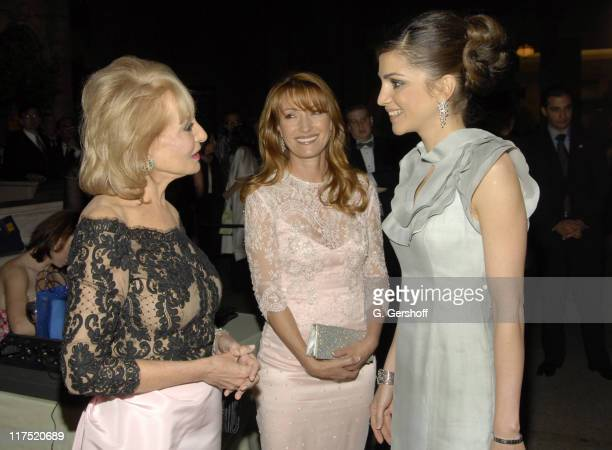 Barbara Walters Jane Seymour and Queen Rania AlAbdullah of Jordan