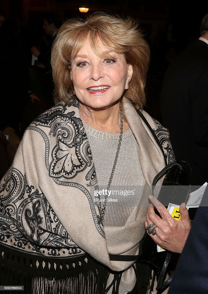 Barbara Walters poses at the Opening Night of 'School of Rock' on Broadway at The Winter Garden Theatre on December 6, 2015 in New York City.