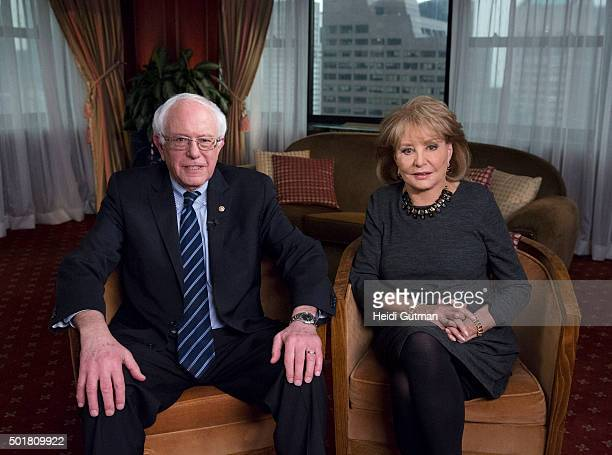 SPECIALS Barbara Walters talks to Democratic Presidential candidate Senator Bernie Sanders of Vermont for her annual 'Barbara Walters Presents The 10...