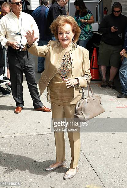 Barbara Walters visits 'Late Show With David Letterman' at Ed Sullivan Theater on May 20 2015 in New York City