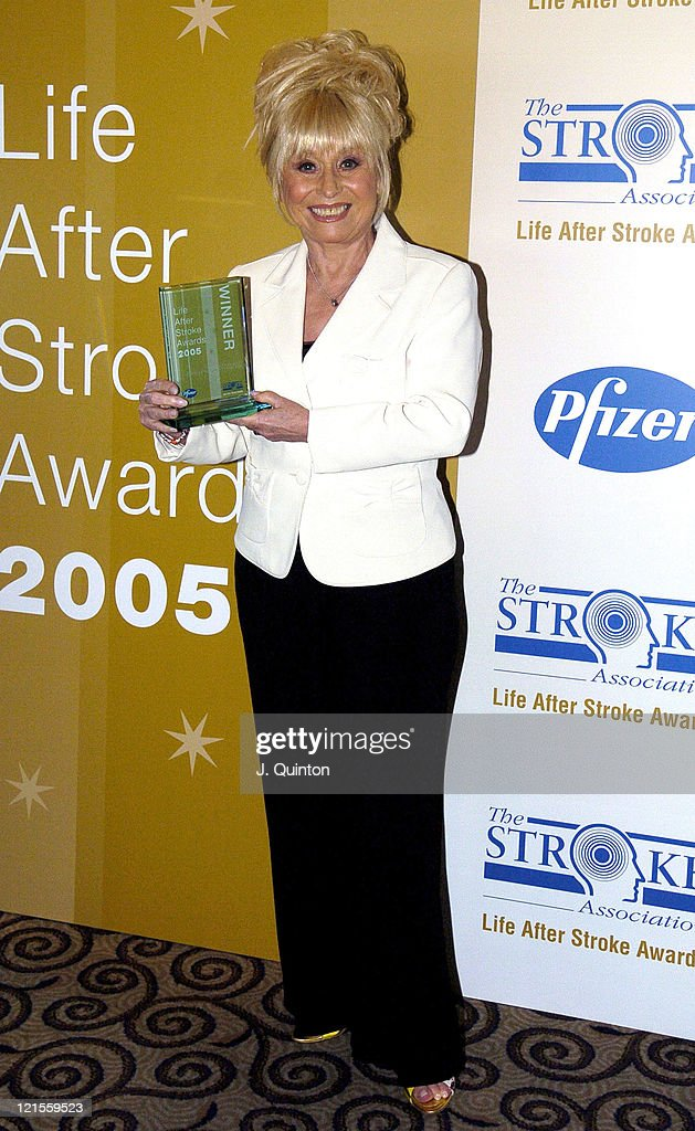 <a gi-track='captionPersonalityLinkClicked' href=/galleries/search?phrase=Barbara+Windsor&family=editorial&specificpeople=210539 ng-click='$event.stopPropagation()'>Barbara Windsor</a> during Life After Stroke Awards 2005 at Park Lane Hilton in London, Great Britain.