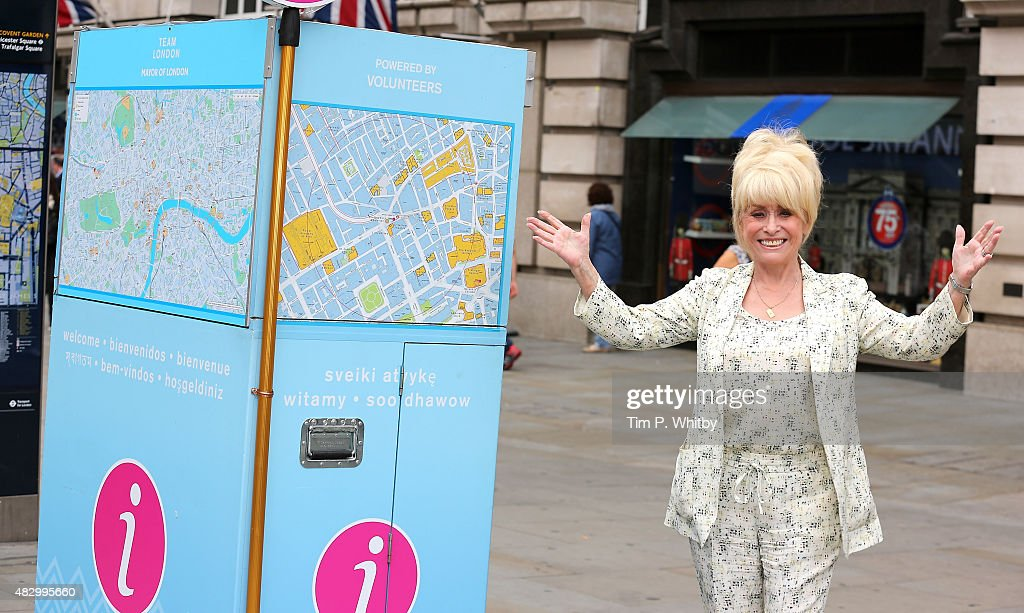 <a gi-track='captionPersonalityLinkClicked' href=/galleries/search?phrase=Barbara+Windsor&family=editorial&specificpeople=210539 ng-click='$event.stopPropagation()'>Barbara Windsor</a> MBE attends a photocall as Team London ambassadors welcome visitors from around the World on August 5, 2015 in London, England. Team London Ambassadors are out at key locations to provide a warm welcome to the capital's visitors this summer, with over 100,000 active volenteers taking part.