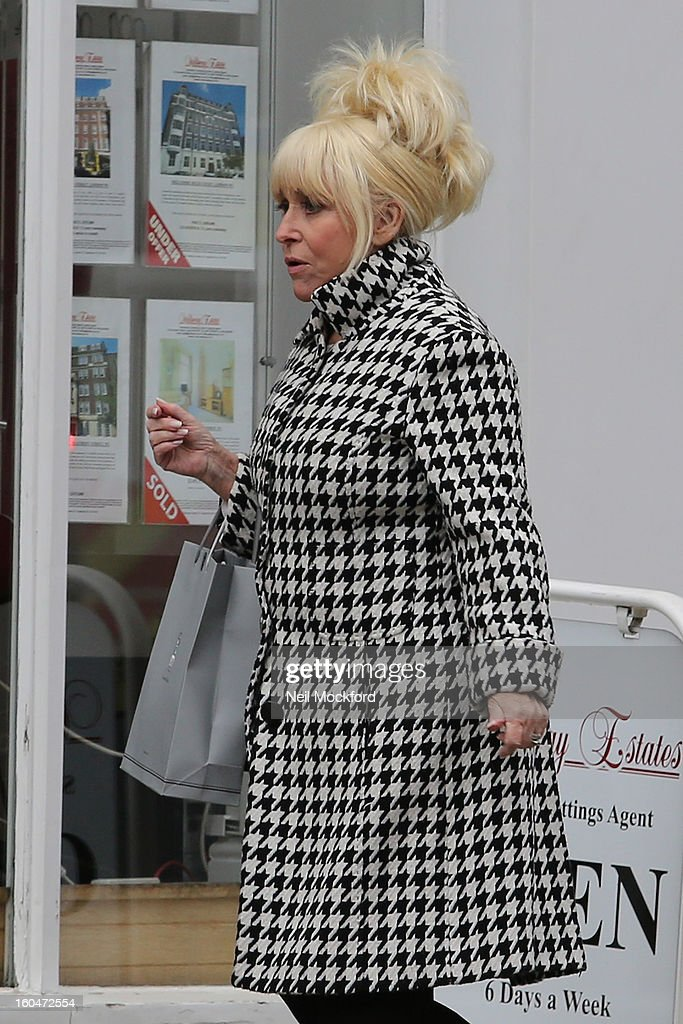 Barbara Windsor seen in Marylebone on February 1, 2013 in London, England.