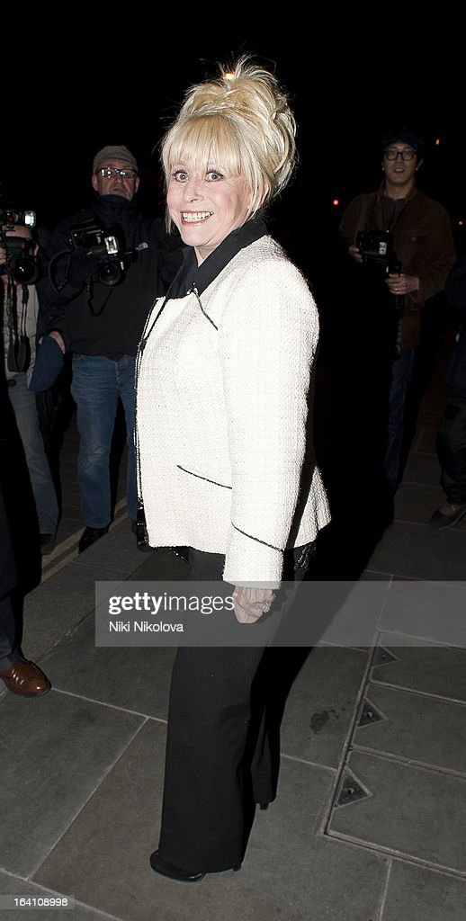 Barbara Windsor sighting on March 19, 2013 in London, England.