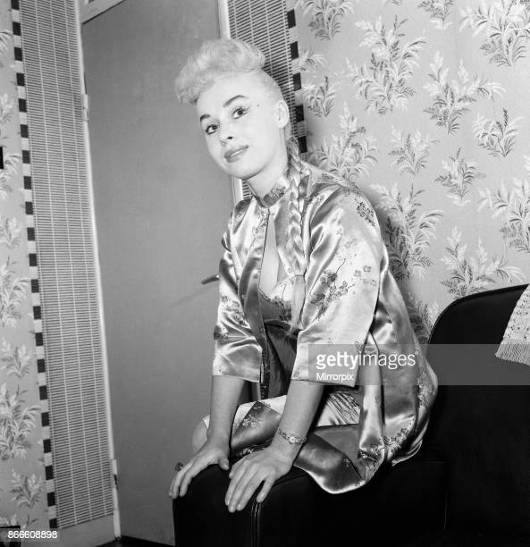 Barbara Windsor who is helping to welcome in the New Year on the Jack Jackson Show on ITV 29th December 1958