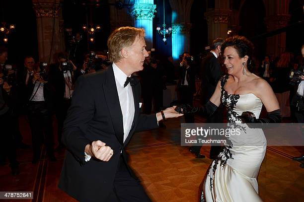 Barbara Wussow and Albert Fortell attend the 5th Filmball Vienna at City Hall on March 14 2014 in Vienna Austria