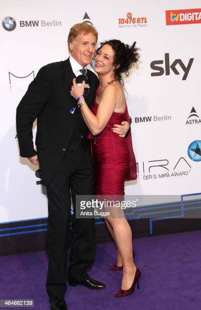Barbara Wussow and Albert Fortell attend the Mira Award 2014 at Station on January 23 2014 in Berlin Germany