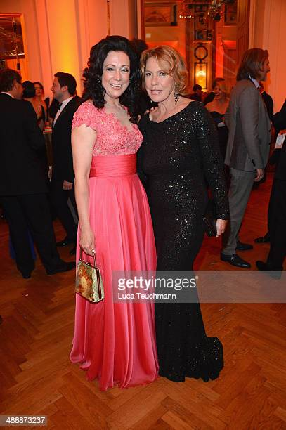 Barbara Wussow and Gaby Dohm attend the Romy Award 2014 at Hofburg Vienna on April 26 2014 in Vienna Austria