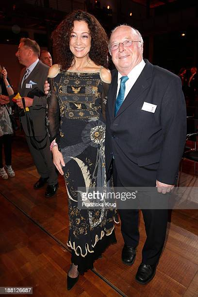 Barbara Wussow and Norbert Bluem attend the 15th Media Award By Kindernothilfe at Hauptstadtrepraesentanz Deutsche Telekom AG on November 15 2013 in...