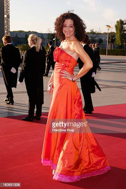 Barbara Wussow attends the Deutscher Fernsehpreis 2013 Red Carpet Arrivals at Coloneum on October 02 2013 in Cologne Germany