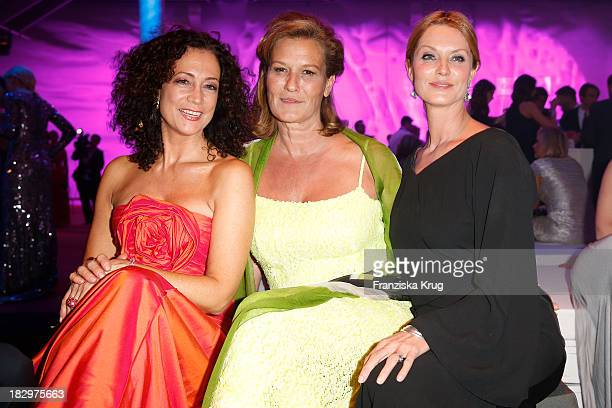 Barbara Wussow Suzanne von Borsody and Esther Schweins attend the Deutscher Fernsehpreis 2013 After Show Party at Coloneum on October 02 2013 in...
